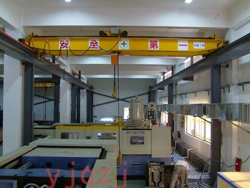 昱嘉成功案例_喜比斯运动器材(惠州)有限公司5吨双梁起重机